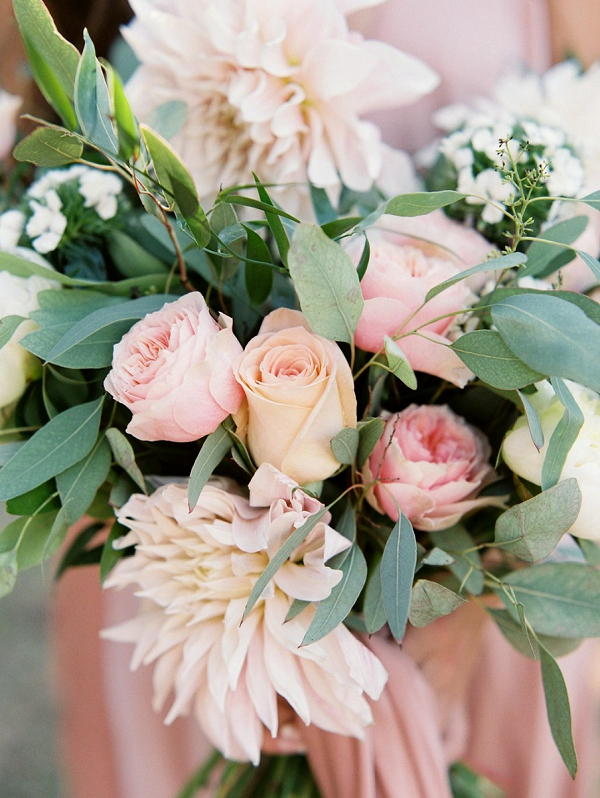 Rose and Dahlia Bouquet | Blush Garden Wedding Inspiration by Matoli Keely Photography