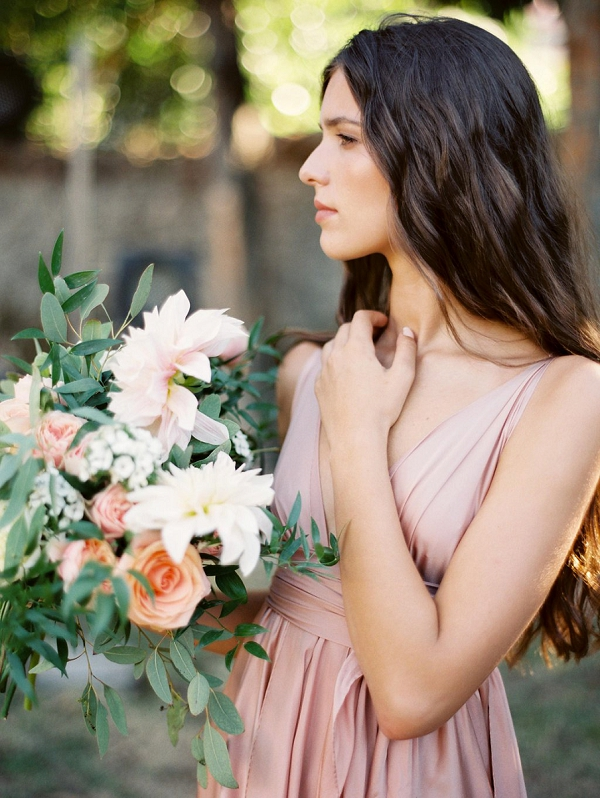 Peach and Bush Pink Palette | Blush Garden Wedding Inspiration by Matoli Keely Photography