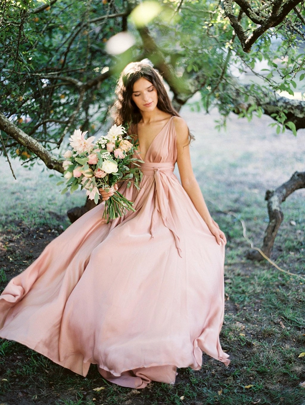 Outdoor Bridal Portraits | Blush Garden Wedding Inspiration by Matoli Keely Photography