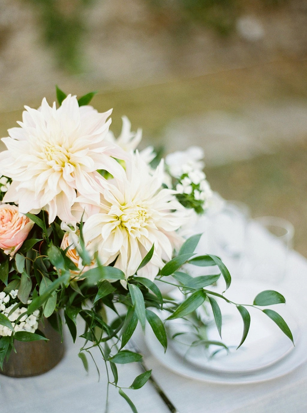 Dahlia Centerpiece | Blush Garden Wedding Inspiration by Matoli Keely Photography