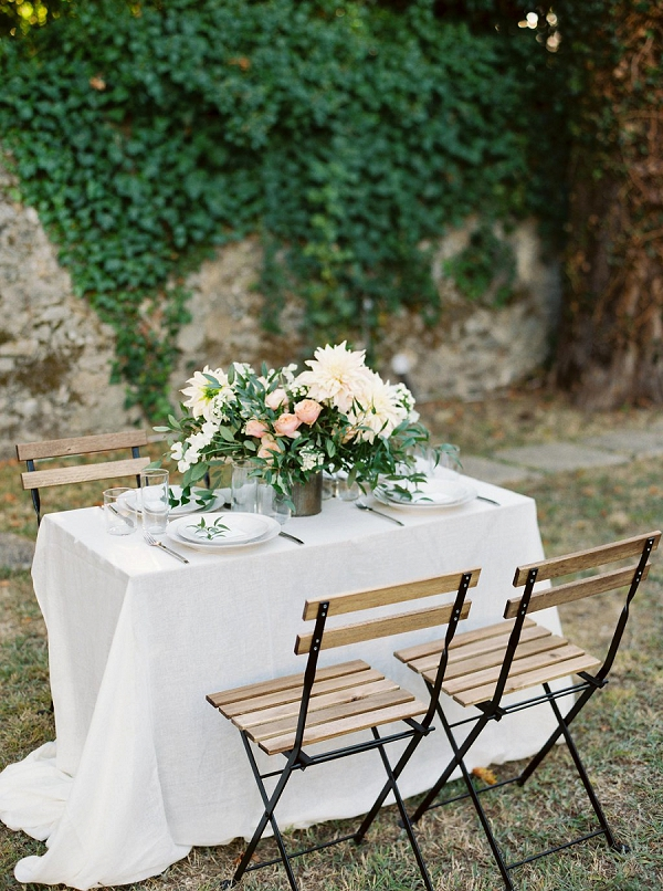 Outdoor Tablescape | Blush Garden Wedding Inspiration by Matoli Keely Photography