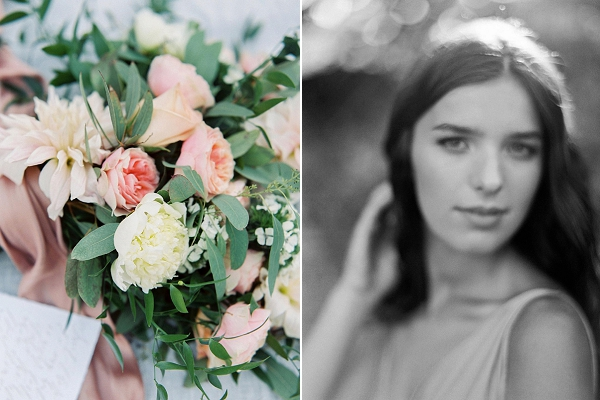 Bridal Portrait | Blush Garden Wedding Inspiration by Matoli Keely Photography