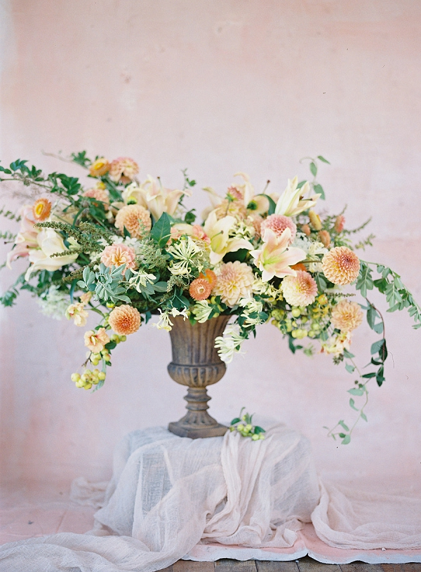 Fine Art Floral Inspiration | Blushing Peach Bridal Inspiration By Heather Payne Photography