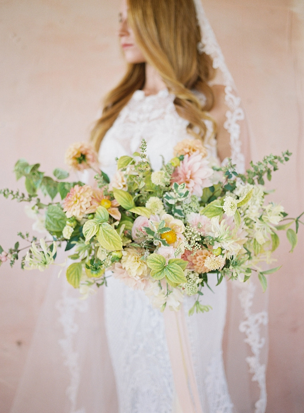Fine Art Bridal Inspiration | Blushing Peach Bridal Inspiration By Heather Payne Photography
