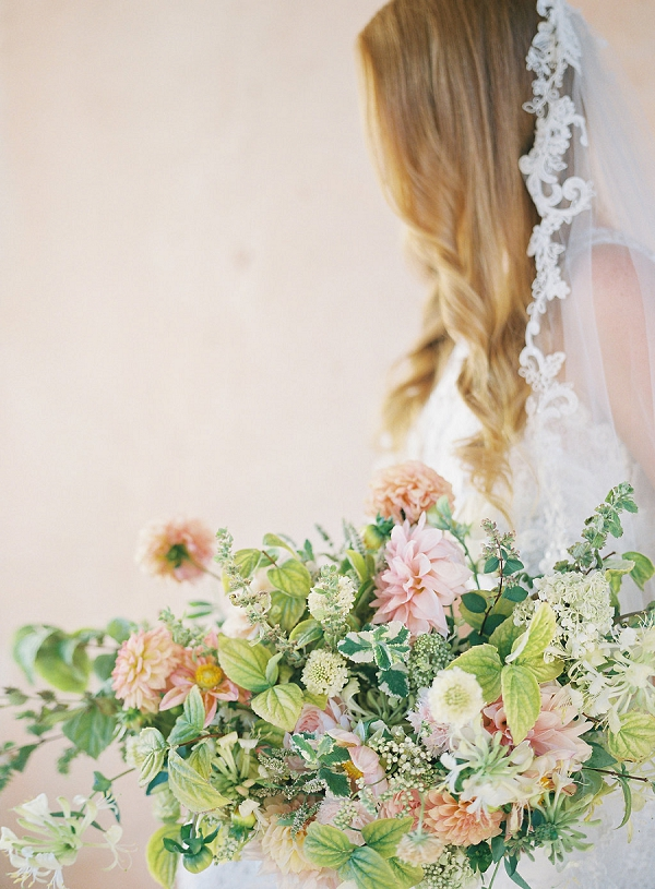 Bridal Bouquet Ideas | Blushing Peach Bridal Inspiration By Heather Payne Photography