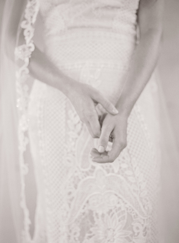 Black and White Bridal Portrait | Blushing Peach Bridal Inspiration By Heather Payne Photography