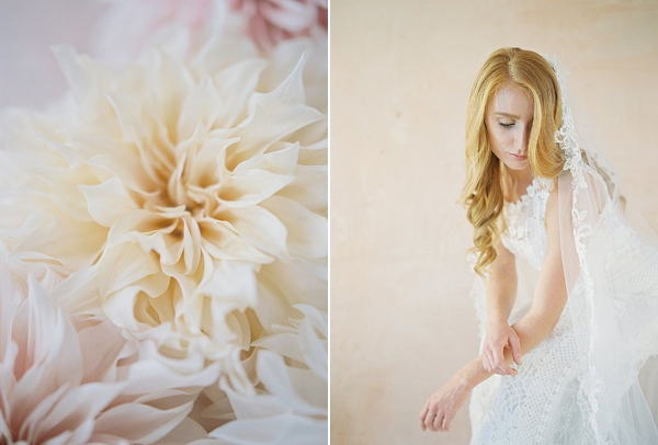 Soft Peach Wedding Palette | Blushing Peach Bridal Inspiration By Heather Payne Photography