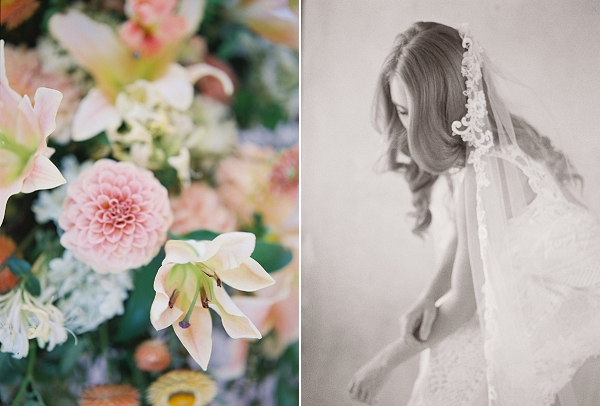 Classic Bridal Veil | Blushing Peach Bridal Inspiration By Heather Payne Photography