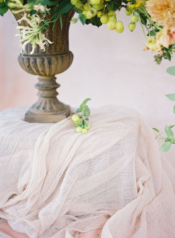 Garden Urn | Blushing Peach Bridal Inspiration By Heather Payne Photography