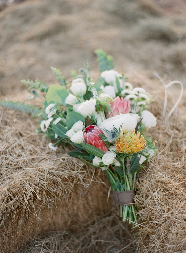 Protea Bouquet | Bohemian Ranch Wedding By Alyssa Nikole Photography