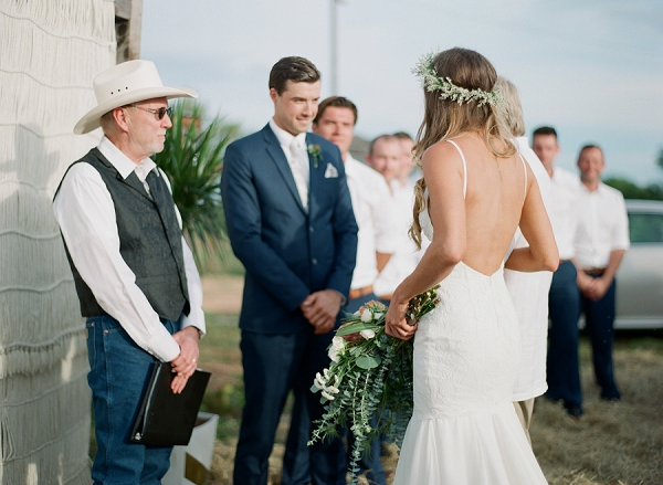 Wedding Ceremony | Bohemian Ranch Wedding By Alyssa Nikole Photography