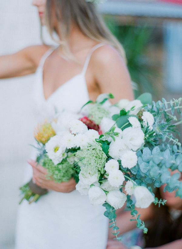 White Textured Bouquet | Bohemian Ranch Wedding By Alyssa Nikole Photography