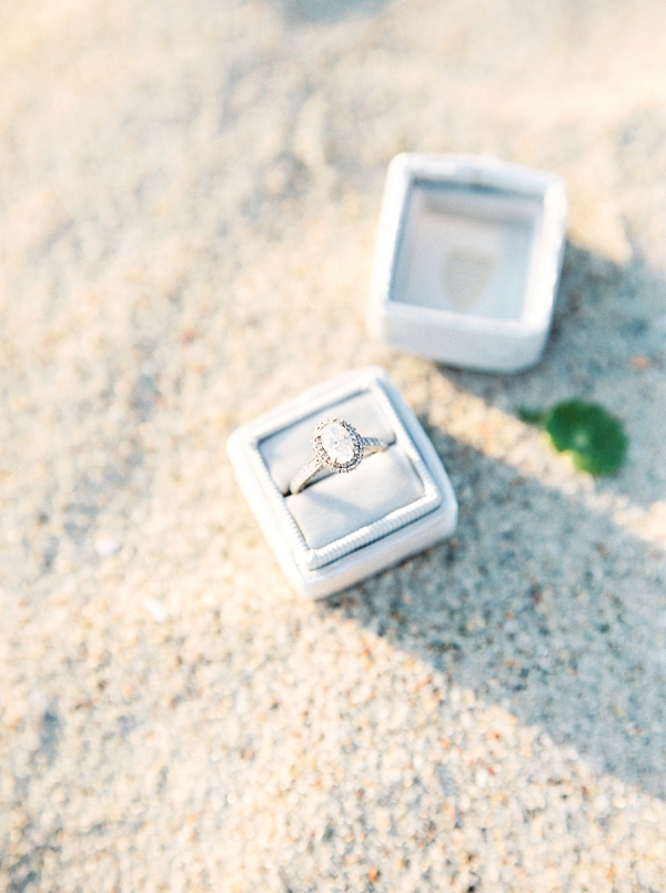 Engagement Ring | Coastal Anniversary Picnic Session by Melissa Blythe Photography
