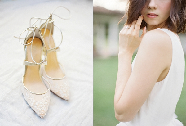 Elegant Wedding Shoes for the Bride | Hawaii Wedding Ideas with Old World Charm from Christine Clark Photography