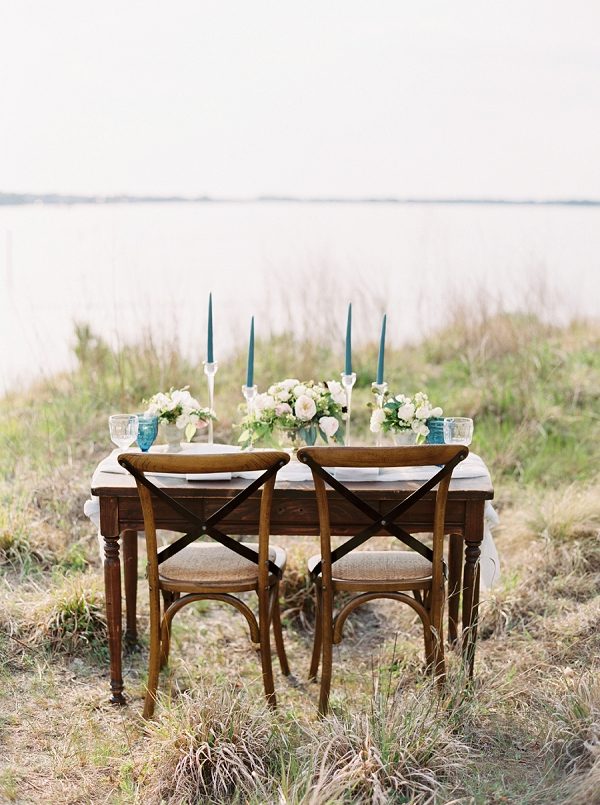 Beach Inspired Tablescape | Intimate Seaside Wedding Inspiration by Shannon Moffit Photography