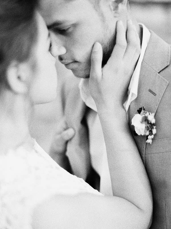 Black and White Wedding Portraits | Intimate Seaside Wedding Inspiration by Shannon Moffit Photography