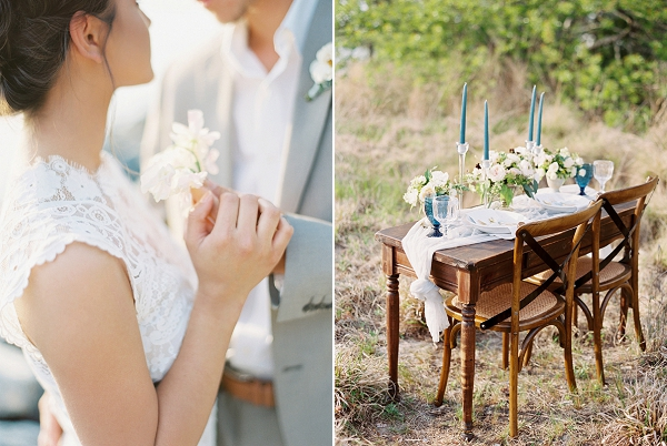 Seaside Sweetheart Table | Intimate Seaside Wedding Inspiration by Shannon Moffit Photography