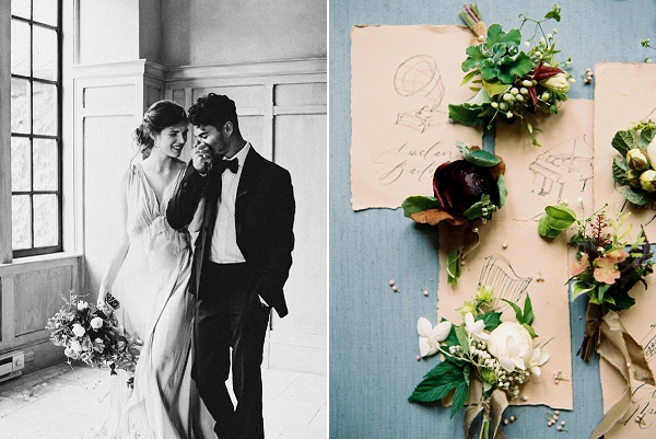 Classical Music Inspired Place Cards | Elegant and Romantic Estate Wedding Inspiration by Andrew & Tianna Photography