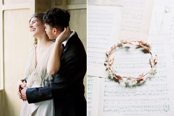 Delicate Bridal Headpiece | Elegant and Romantic Estate Wedding Inspiration by Andrew & Tianna Photography