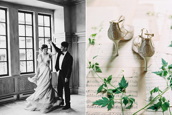 Bella Belle Wedding Shoes | Bride and Groom Dancing | Elegant and Romantic Estate Wedding Inspiration by Andrew & Tianna Photography