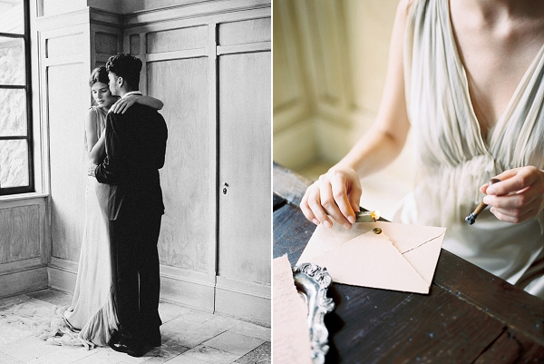 Bride and Groom Dancing | Elegant and Romantic Estate Wedding Inspiration by Andrew & Tianna Photography