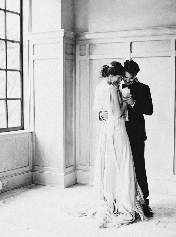 Bride and Groom Dancing Portraits | Elegant and Romantic Estate Wedding Inspiration by Andrew & Tianna Photography