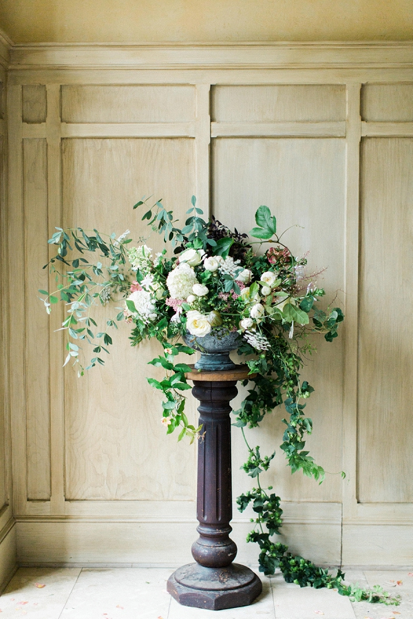 Large Overflowing Floral Centerpiece by Nature Composed | Elegant and Romantic Estate Wedding Inspiration by Andrew & Tianna Photography