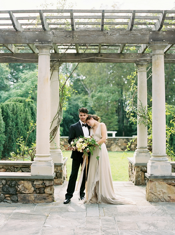 Stunning Bride and Groom Wedding Portrait | Elegant and Romantic Estate Wedding Inspiration by Andrew & Tianna Photography