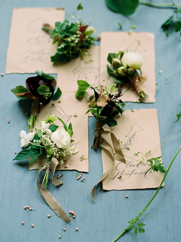 Music Inspired Place Cards | Elegant and Romantic Estate Wedding Inspiration by Andrew & Tianna Photography