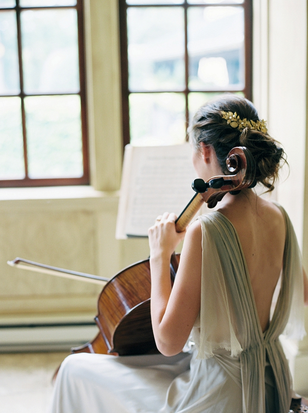 Classical Music Inspired Wedding Editorial | Elegant and Romantic Estate Wedding Inspiration by Andrew & Tianna Photography