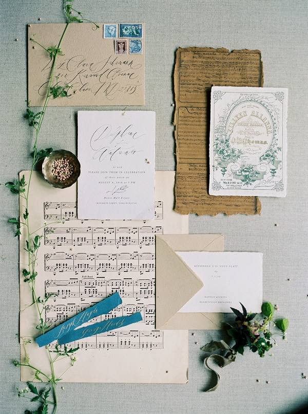 Wedding Invitation Suite by Written Word Calligraphy | Elegant and Romantic Estate Wedding Inspiration by Andrew & Tianna Photography
