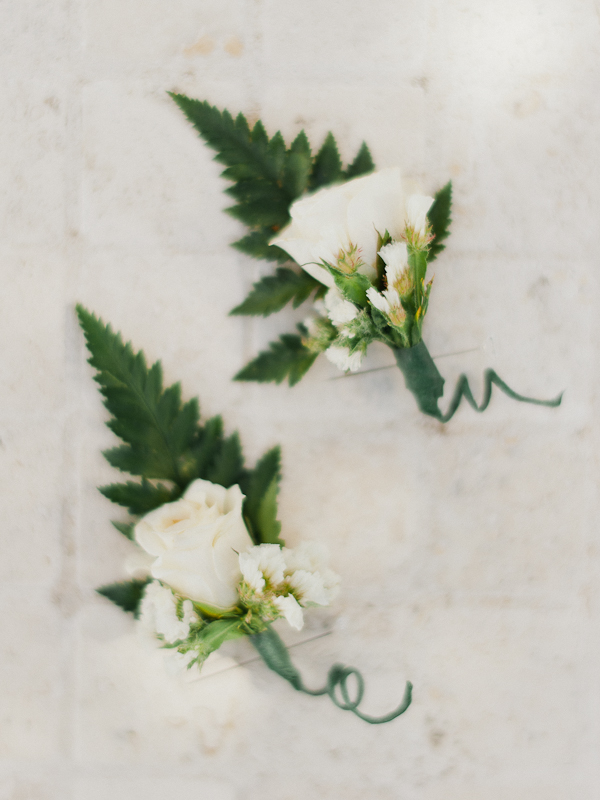 Delicate White Boutonnieres | Refined Rustic Destination Wedding in Nicaragua by Merari Photography
