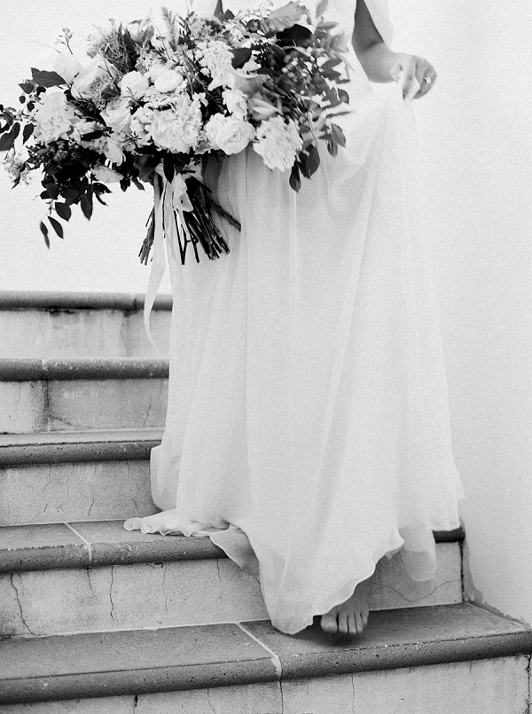 Black and White Bridal Portrait | Romantic Vow Renewal Wedding Inspiration in Florida from Simply Sarah Photography