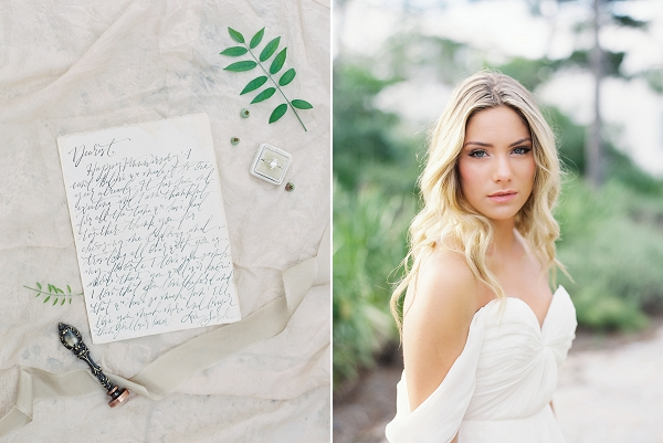 Elegant Calligraphy | Romantic Vow Renewal Wedding Inspiration in Florida from Simply Sarah Photography