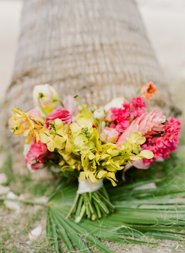 Stunning Tropical Bouquet by Bows and Arrows | An Elegant Tropical Wedding In Jamaica By Fine Art Photographer Sylvie Gil Photography
