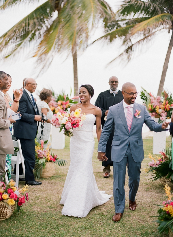 Wedding Ceremony in the Tropics | An Elegant Tropical Wedding In Jamaica By Fine Art Photographer Sylvie Gil Photography