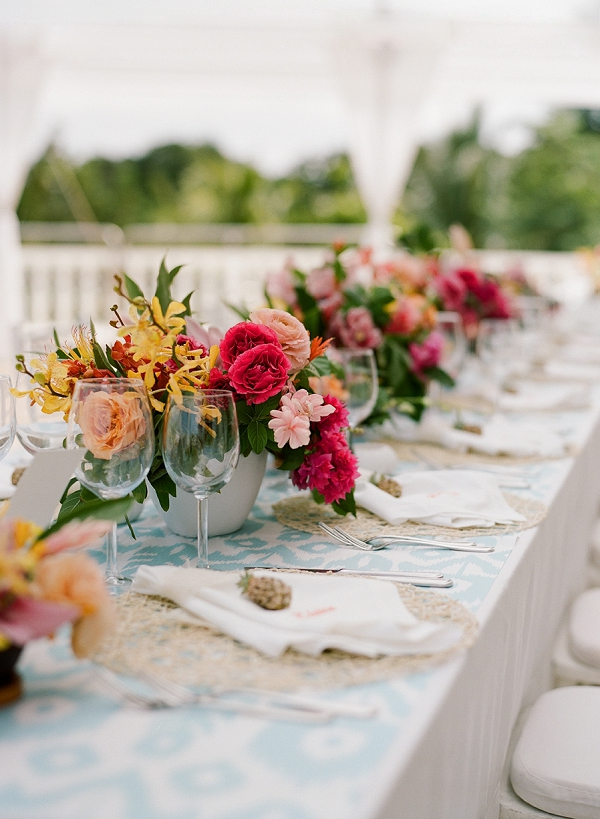Chic Tropical Tablescape | An Elegant Tropical Wedding In Jamaica By Fine Art Photographer Sylvie Gil Photography