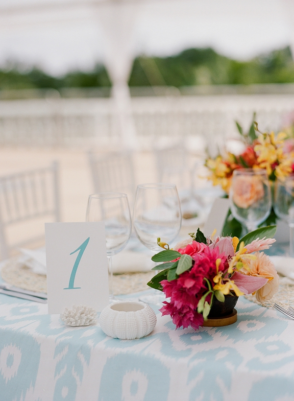 Tropical inspired Tablescape | An Elegant Tropical Wedding In Jamaica By Fine Art Photographer Sylvie Gil Photography