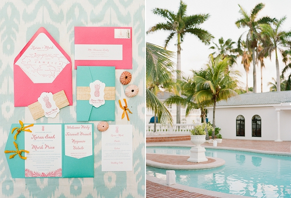 Tropical Wedding Invitation Suite | An Elegant Tropical Wedding In Jamaica By Fine Art Photographer Sylvie Gil Photography