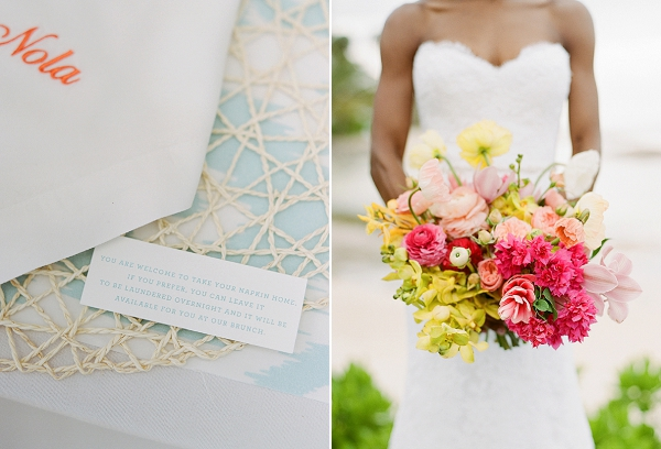 Bright Tropical Bouquet By Bows and Arrows | An Elegant Tropical Wedding In Jamaica By Fine Art Photographer Sylvie Gil Photography