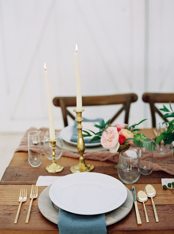 Candlelight for the Table | Wedding Inspiration With A Fresh Romantic Palette by Jessica Gold Photography
