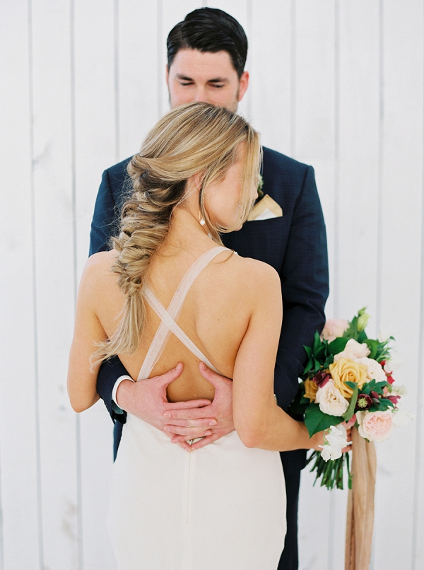 Fishtail Braid | Wedding Inspiration With A Fresh Romantic Palette by Jessica Gold Photography