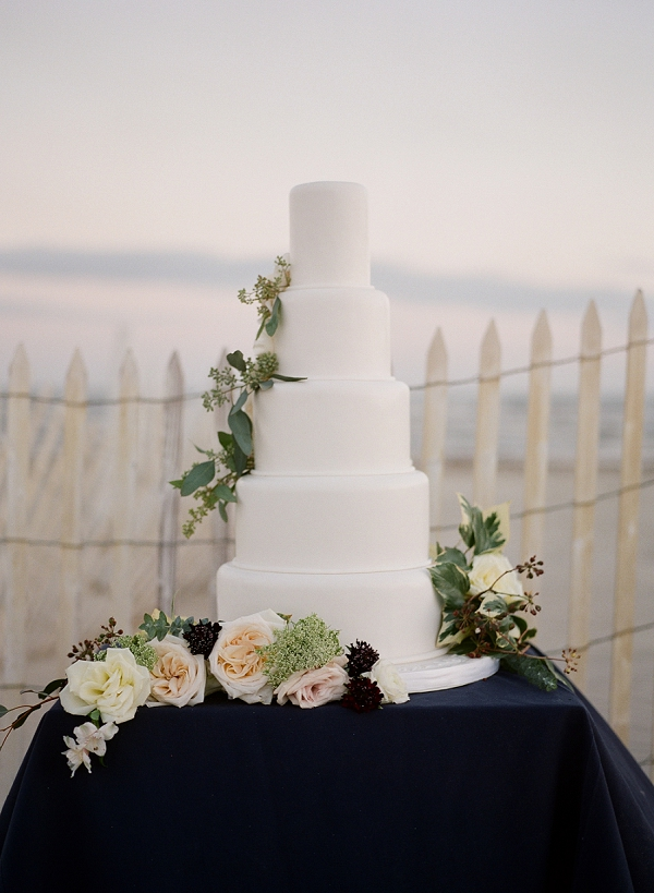 Classic Wedding Cake | Windswept By the Sea Editorial By Koby Brown Photography