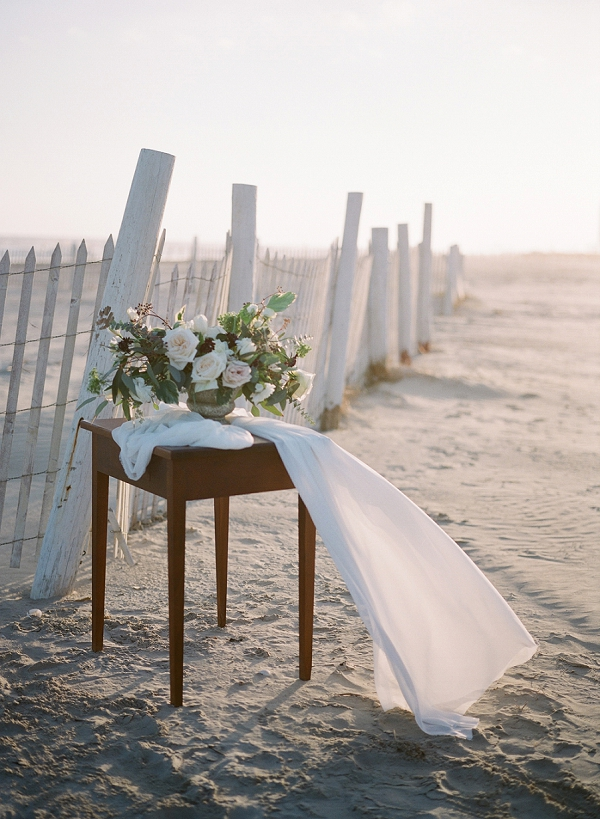 Beach Wedding Centerpiece | Windswept By the Sea Editorial By Koby Brown Photography
