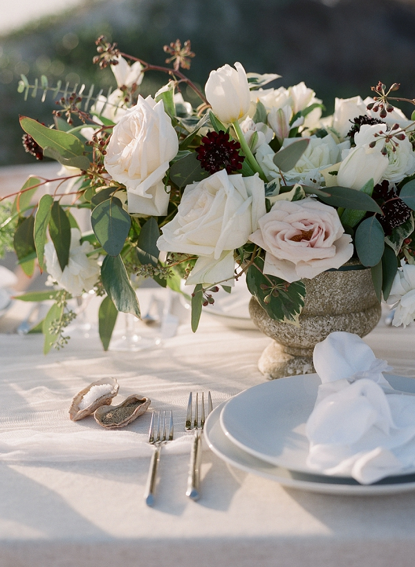 Beach Inspired Wedding Tablescape | Windswept By the Sea Editorial By Koby Brown Photography