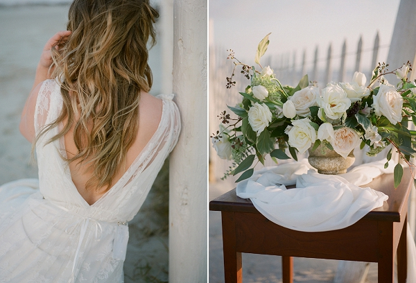 Rose Centerpiece | Windswept By the Sea Editorial By Koby Brown Photography