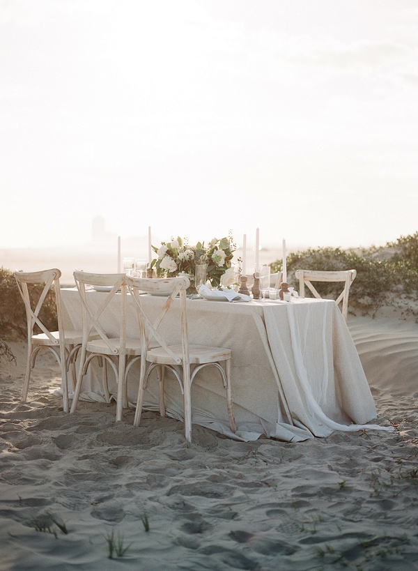 Beach Wedding Set Up | Windswept By the Sea Editorial By Koby Brown Photography