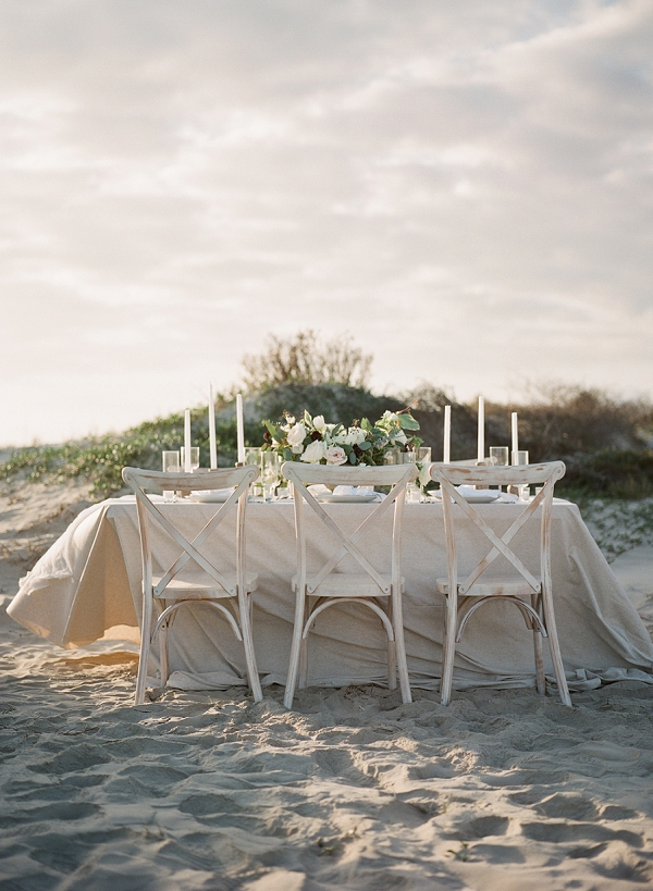 Beach Wedding Reception | Windswept By the Sea Editorial By Koby Brown Photography