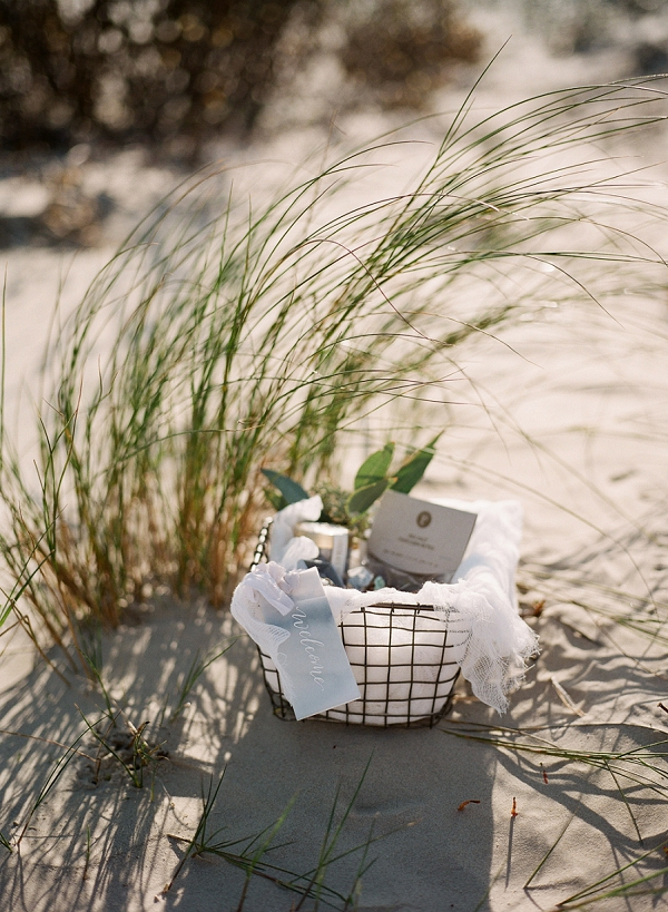 Wedding Guest Welcome Package | Windswept By the Sea Editorial By Koby Brown Photography