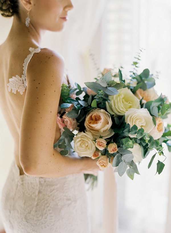 Gorgeous Rose Bouquet for a Classic Bride   A Classic Garden-Inspired Wedding In Colombia by Vicki Grafton Photography